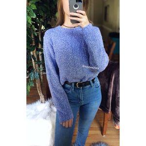 🌿 Deep Lavender Textured Knit Sweater 🌿